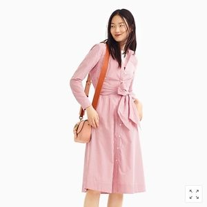 NWT J. Crew Tie-waist shirtdress in stripe Size 12